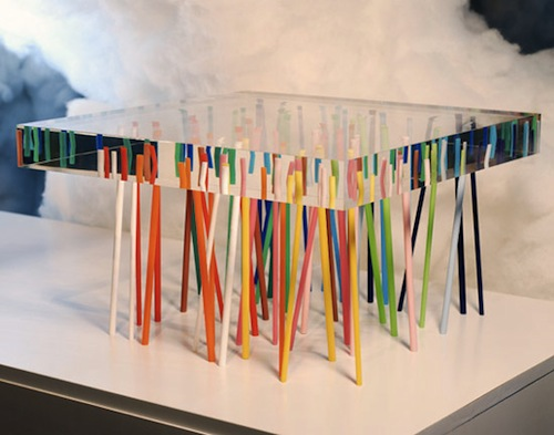 Emmanuelle moureaux acrylic tables decorative practice - Table plexi design ...